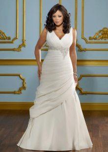Vestuvinė suknelė pilnam a-siluetui