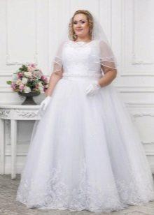 Didelė vestuvių suknelė su šydu