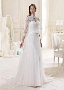 Vestuvių suknelė su nemokamu viršūniu