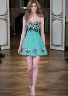 Turquoise Fitted Dress