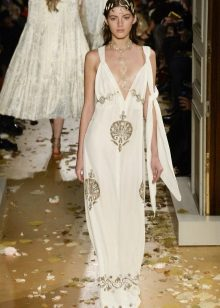 Nilagyan ng flared dress Greek