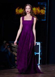 Lacy dress lace purple