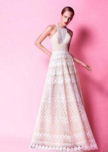 Lace A-Silhouette įtempta suknelė