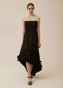 Winter dress knitted high-low
