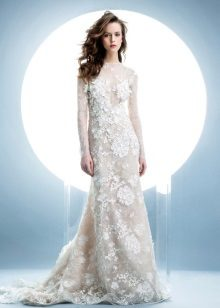 Winter lace wedding dress
