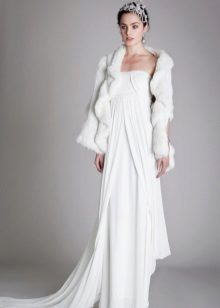 Winter wedding dress with jacket