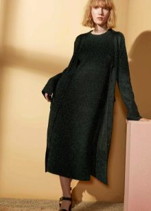 Winter dress green