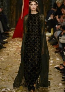 Capa para vestido longo preto