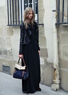 Bolsa para vestido longo preto