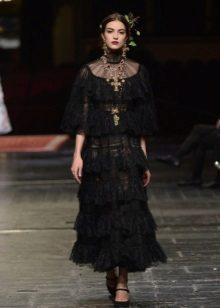 Vestido de renda preta