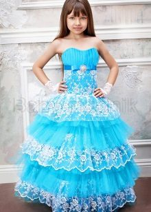 Elegáns bolyhos bustier ruha lányoknak