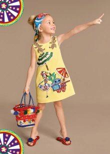 Vestido de verão para meninas 5 anos