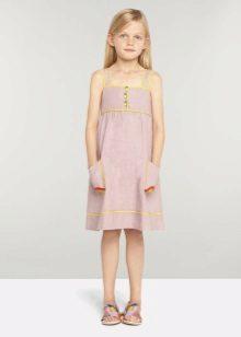 Vestido de verão para meninas 5-8 anos