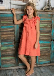 Vestido de verão para meninas de 5 a 8 anos todos os dias