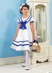 Vestido de verão para meninas no estilo marinho magnífico