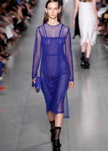 Módní transparentní šaty 2016