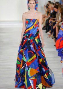 Fashionable color bando dress for spring-summer 2016