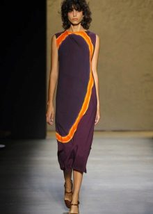 Fashionable dress of a simple cut of a season spring-summer of 2016