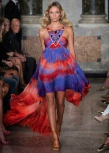 Fashionable multicolor dress for spring-summer 2016