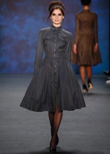 Fashionable cashmere dress for fall-winter 2016