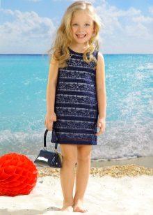 Vestido de verão elegante para a menina direta