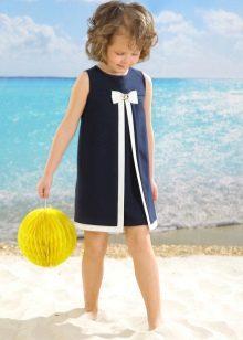 Vestido de verão elegante para a menina de uma linha