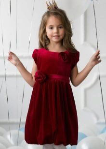 Vestido de noite elegante para veludo meninas