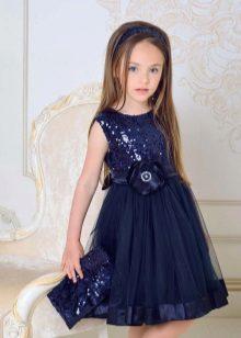 Vestido de noite elegante para meninas com lantejoulas