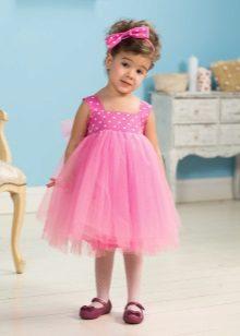 Vestido elegante para meninas 2-3 anos fofo