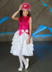 Vestido elegante para meninas 6-7 anos