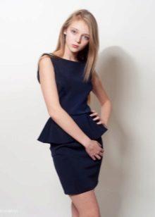 Vestido elegante para a menina de 10-12 anos com basky