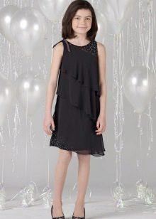 Elegante vestido de noite para a menina de várias camadas