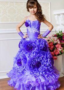 Vestido elegante para meninas 6-7 anos de fofo para o chão