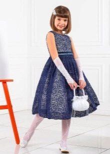 Vestido elegante para a menina de 10-12 anos lacy