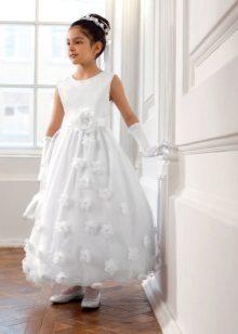 Vestido elegante para a menina longa