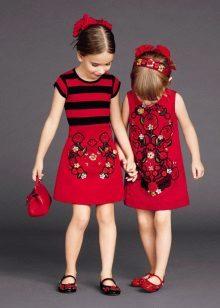 Vestido elegante para meninas com estampas