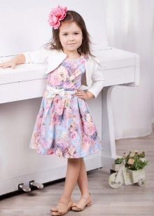 Vestido elegante para meninas com estampa floral