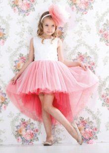 Vestido elegante magnífico alto-baixo para a menina