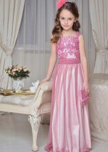 Vestido de formatura elegante para meninas no chão