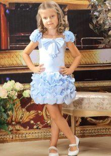 Vestido de baile elegante para meninas com uma saia fofa
