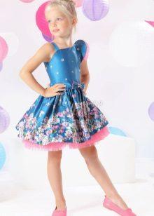Vestido de formatura elegante para menina com silhueta