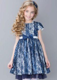 Vestido de formatura elegante para meninas rendas