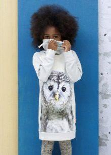 Vestido de inverno para meninas de 10 a 12 anos