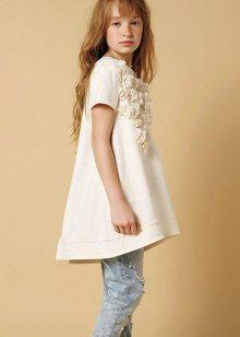 Vestido para meninas de 10 a 12 anos assimétrico
