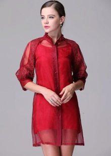 organza ja silkki mekko