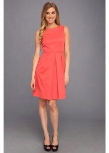 Oranssi poplin-mekko