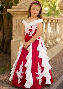 Vestido longo vermelho para a aula de formatura 4
