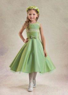 vestido verde para a formatura de 4 aulas
