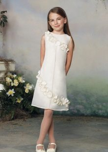 Vestido reto branco para formatura 4 aulas