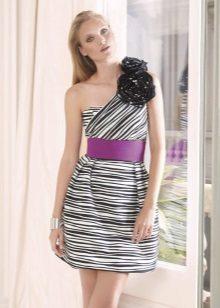 Beyaz-Siyah Elbise Kemeri